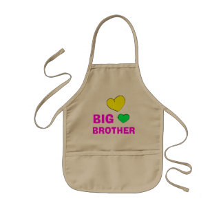Cute Big Brother Gift Kids Apron
