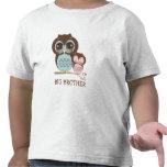 Cute Big Brother Owl with Sleepy Lil' Baby Sis Tee Shirt