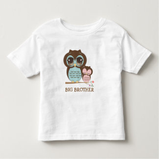 Cute Big Brother Owl with Sleepy Lil' Baby Sis T Shirt