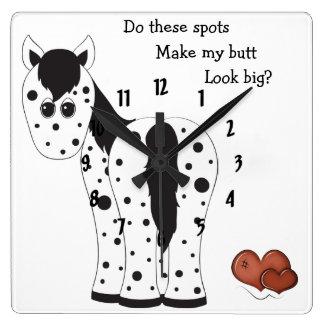 Cute Big Butt Appy Leopard Appaloosa Horse Wall Clocks