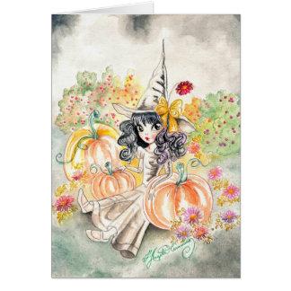 Cute Big Eye Girl Art Card