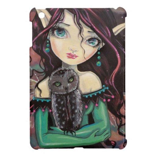 Cute Big-Eye Gothic Fairy and Owl iPad Mini Covers