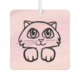 Cute  Big Eyed Cat Peeking Pink Car Air Freshener