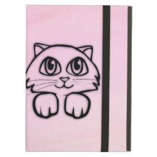Cute  Big Eyed Cat Pink Case For iPad Air