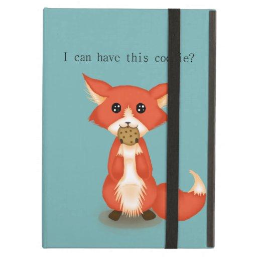 Cute Big Eyed Fox Eating A Cookie iPad Case