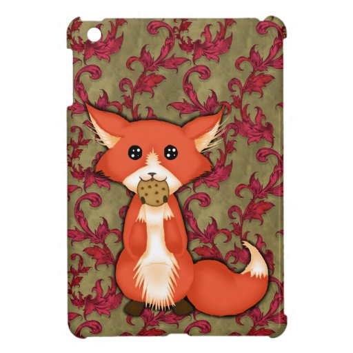 Cute Big Eyed Fox Eating A Cookie Cover For The iPad Mini