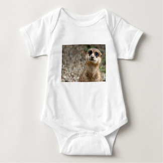 Cute Big-Eyed Meerkat Baby Bodysuit
