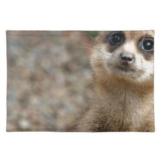 Cute Big-Eyed Meerkat Placemat