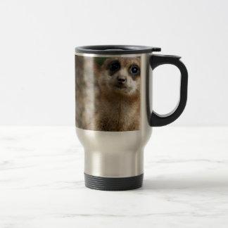 Cute Big-Eyed Meerkat Travel Mug