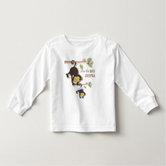 Cute Big Sister Monkey with Lil' Baby Brother T Shirts