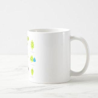 Cute bio kids icons green coffee mug