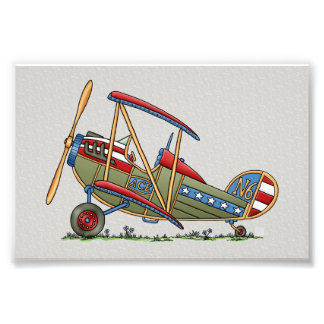 Cute Biplane Art Photo