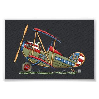 Cute Biplane Art Photo
