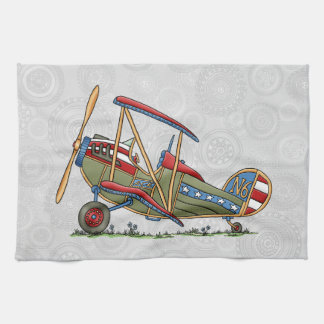 Cute Biplane Towels