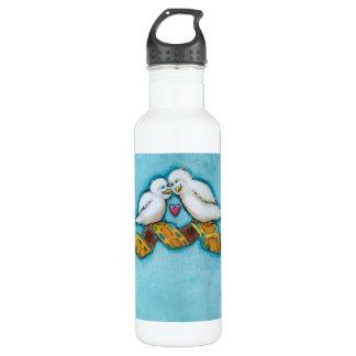 Cute bird art fun original painting film strip 710 ml water bottle
