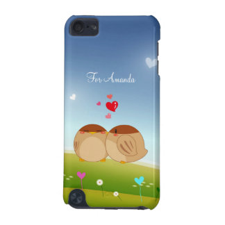 Cute Bird Couple Full of Love Heart iPod Touch 5G Cases