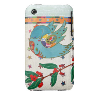 Cute bird flying and singing Case-Mate iPhone 3 cases