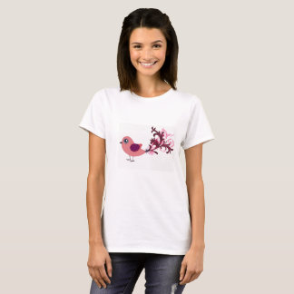 Cute Bird Graphic Art  Tee Shirt