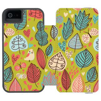 Cute Bird/Leaf Pattern Incipio Watson™ iPhone 5 Wallet Case