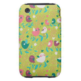 Cute Bird Pattern One iPhone 3 Tough Cases