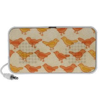 cute bird pattern iPod speaker