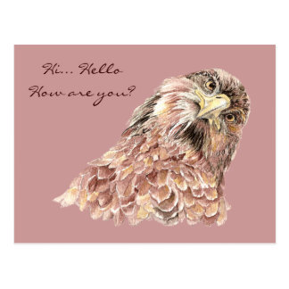 Cute Bird Saying What Funny Animal Custom Postcard