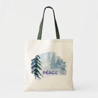Cute Bird Sitting on Peace in Winter Tote Bag