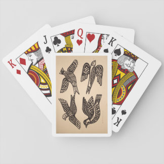 cute bird style playing cards