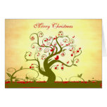 Cute Bird Swirl Tree Gifts and Invitations