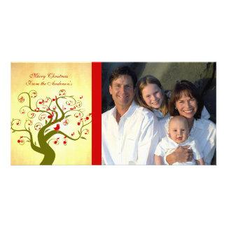 Cute Bird Swirl Tree Gifts and Invitations Custom Photo Card