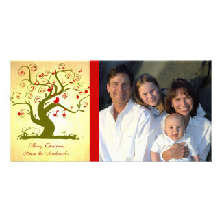 Cute Bird Swirl Tree Gifts and Invitations Personalised Photo Card