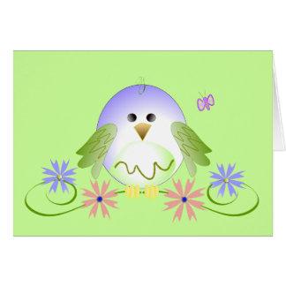 Cute birdie greeting card
