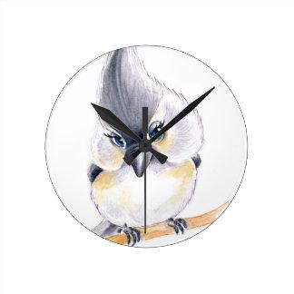 Cute birdie round clock