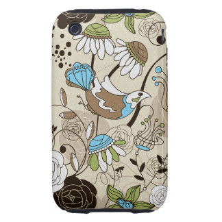 cute birds and flowers tough iPhone 3 covers