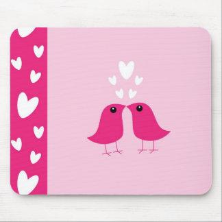 Cute birds love hearts mousepad, valentine gift