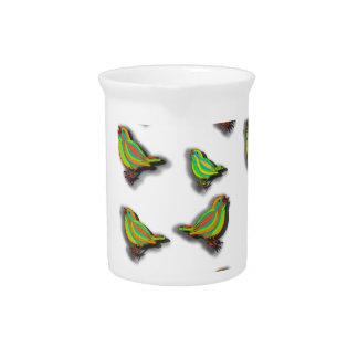 Cute birds pitcher
