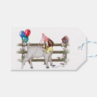 Cute Birthday Boer Goat Kid Gift Tags