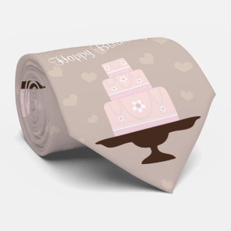 Cute birthday cake tie