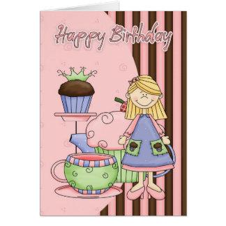 Cute Birthday Card - Cupcakes And Tea