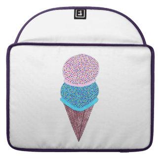 Cute Birthday Double Ice Cream In Cone Sleeve For MacBook Pro