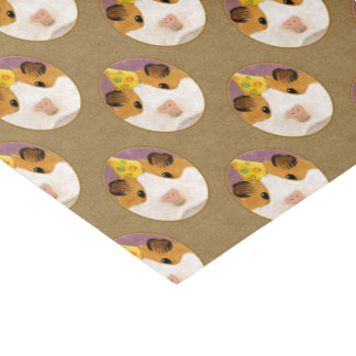 Cute Birthday Guinea Pig Pattern Tissue Paper