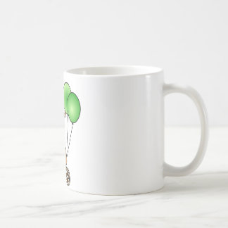 Cute Birthday Teddy Bear - Green Mugs