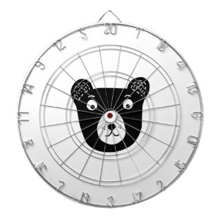 Cute black and white bear illustration dartboard