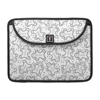 Cute Black and White Christmas Gingerbreads Sleeve For MacBooks