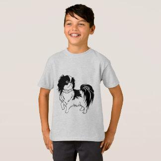 Cute Black and White Dog Kids Shirt