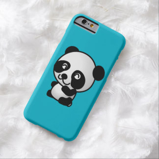 Cute black and white happy panda bear barely there iPhone 6 case