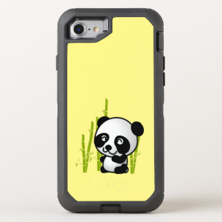 Cute Black and White Panda Bear in Bamboo OtterBox Defender iPhone 8/7 Case