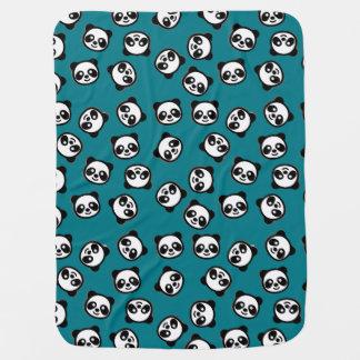 Cute Black and White Panda Cartoon Pattern Baby Blanket