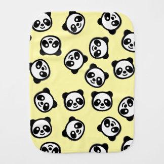Cute Black and White Panda Cartoon Pattern Burp Cloth