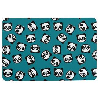 Cute Black and White Panda Cartoon Pattern Floor Mat